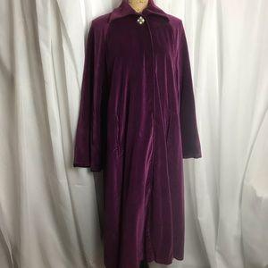 Vintage Velvet Swing Coat
